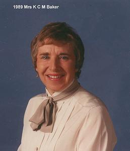 1989 Mrs K C M Baker