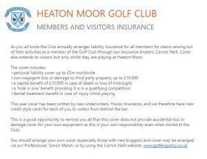 insurance - Heaton Moor Golf Club