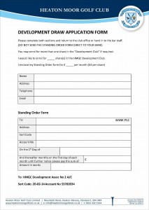 Development Draw Application Form